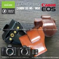 Canon EOS M50 M5 Leather Bag / Case / Tas Casing Kamera Kulit 15-45 MM - Cokelat Muda