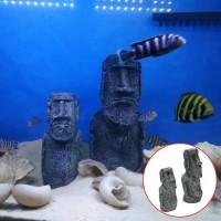 Dekorasi hiasan akuarium patung romawi