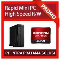 """Mini PC + LED 19"""" (Quad Core A10-4655 + Ram 8GB + SSD 120GB + HD7620)"""