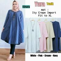 (Pic4) Yura Tunik @125.000 (white,pink,cream,navy) crepe import fit t