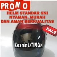 PROMO SUPER SALE HELM STANDAR MURAH BER-SNI HELM MOTOR HALF FACE