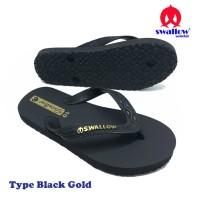 Sandal Swallow Black Gold - Hitam
