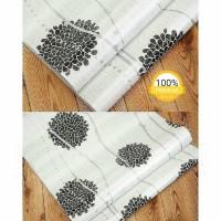dandellion black & white 45 cm x 10 mtr ~ Wallpaper sticker dinding