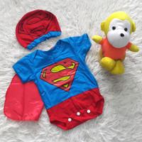 Sale Jumper Bayi Karakter Superman Kostum Bayi Set Topi