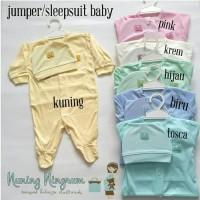 Sale Jumper/Jumpsuit/Sleepsuit Baju Bayi Merah Set Topi