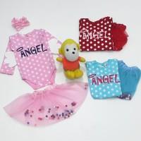Paling laris Baju Jumper Panjang Bayi Perempuan Set