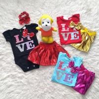 Paling laris Baju Jumper Bayi Perempuan Set Rok Met