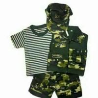 import Baju Setelan Anak Bayi Army