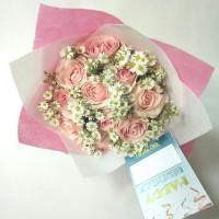 buket bunga wisuda   bunga mawar asli   bucket   hand bouquet   floris