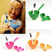 Mangkok Masker Peracik Wajah DIY 4 in1 Bowl Tool tempat kuas kosmetik