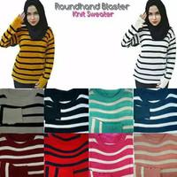 Sweater Wanita Baju Rajut Cewek Roundhand Blaster Pakaian Cewe