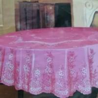 Taplak Meja Makan Bulat ukuran 4-6 Kursi