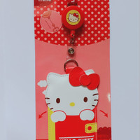 gantungan id card holder hello kitty ori