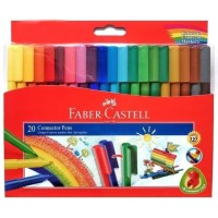 Faber Castell Connector Pen 20 Colors Spidol Warna