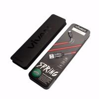 Kabel data VIVAN FM100 2.4A 1M Spring Micro USB for android original