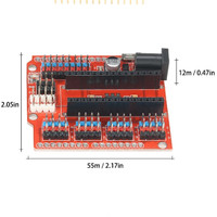 Arduino Nano I/O Expansion Sensor Shield RED Module Uno
