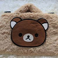 Rilakkuma Cream 13-14 Inch Tas Laptop Softcase Animasi Lucu