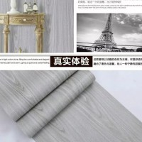Kayu rustic grey 45 cm x 10 mtr ~ Wallpaper sticker dinding