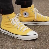Sepatu Pria - Converse Chuck Taylor All Star High Yellow White - PRM