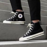 Sepatu Pria - Converse Chuck Taylor All Star High Black White - PRM