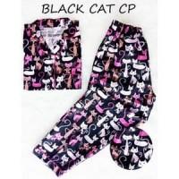 KEKINIAN!!!! CELANA PANJANG BAJU TIDUR WANITA BLACK CAT