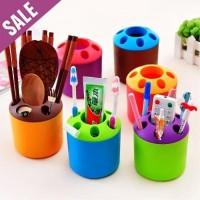 Tabung Sikat Gigi Toothbrush Holder Round dan tempat Alat tulis