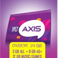 Perdana AXIS OWSEM 24 GB ( 3 GB All+ 9 GB 4G + 12 GB GAMES 24 JAM )