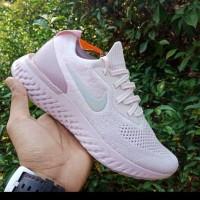 Nike Epic React Flyknit Pink Premium Original/Nike Terbaru/Murah/Sneak