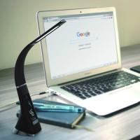 PROMO Lampu Meja LED Texture Kulit dengan Jam Temperatur Bergaransi