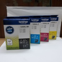 Tinta Brother LC539 XL dan LC535 XL warna 1 set