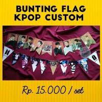 BUNTING FLAG CUSTOM KPOP MURAH