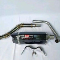 KNALPOT RACING YOSHIMURA R77 CARBON FULL SYSTEM FOR MOTOR 150CC ALL