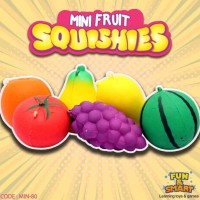 Jual Squishy Squish Replika Mini Fruits Squishy Buah (Min-80)
