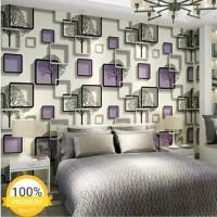 S6051-1 Ungu Elegant Wallpaper Dinding 10M x 45Cm