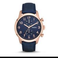 Jam tangan pria fossil townsman Chronograph Navy Dial Leather FS4933