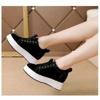 Sepatu Wanita Kets Casual SDS256 Hitam
