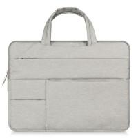 Tas Laptop Macbook Softcase Nylon Pocket Handstrap 11 12 inch - Abu