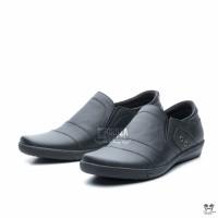 Sepatu Pantofel Pria Semi Formal kulit asli Warna Hitam Fordza CBR107