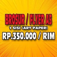 Print Cetak Brosur/Flyer A5 1 Rim