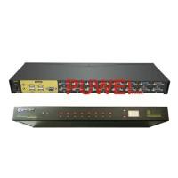 16 Port USB KVM Switch Rackmount VGA Switcher with Audio MIC FB57