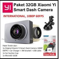 Paket 32GB Xiaomi Yi Smart Car DashCam Dash Camera ADAS 1080P 60FPS