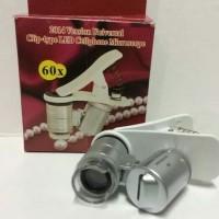 Promo Microscope Mini Jepit Hp Lampu Led 60x