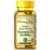 Puritan s Puritan Pride Vitamin D3 D 3 10 000 IU 10000IU 100 Caps