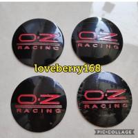 sticker stiker lapisan tutup dop velg mobil logo OZ RACING