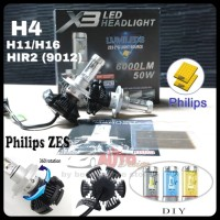 Lampu LED Mobil X3 Philips ZES Chips 2nd Gen - Socket H4