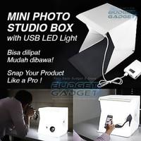 Photo Studio Mini Magnetic + 2 Background+ Lampu LED Size Large