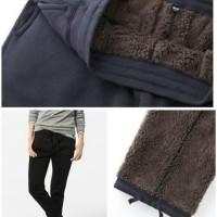 Uniqlo Blocktech Sweatpants Bulu Celana Training Musim Dingin Original