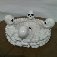 Asbak Tengkorak / Skull Vintage halloween nightmare gothic gift unik