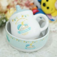souvenir mangkok & gelas ulang tahun one month pernikahan aqiqah