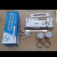 kunci pintu alumunium kaca swing key silinder bulat dekson 8128 asli